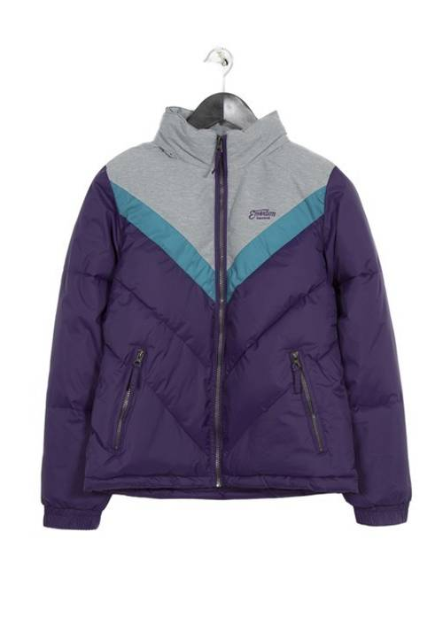 ROLL-IN HOODED FAKE DOWN JACKET 182.EW10.123 PURPLE