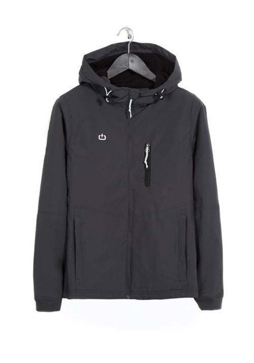 HOODED LONG JACKET 182.EW10.102 EBONY