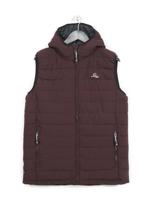 HOODED FAKE DOWN QUILTED VEST JACKET 182.EM10.231 WINE
