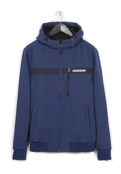 HOODED BONDED SPORT JACKET 182.EM11.34 ROYAL/NAVY