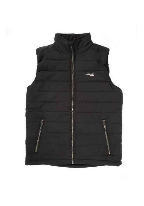 FAKE DOWN QUILTED VEST JACKET 191.EM10.22 BLACK