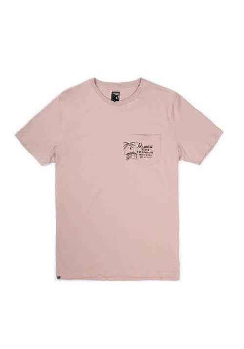 SURF VACATIONS POCKET TEE 191.EM33.58 DUSTY PINK