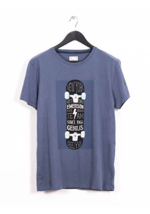 COTTON T-SHIRT WITH PRINT MTR1615 BLUE