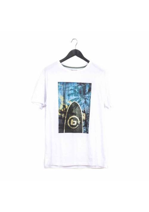COTTON T-SHIRT WITH PRINT MT1623 WHITE