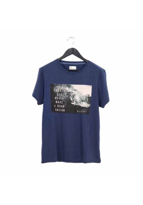 COTTON T-SHIRT WITH PRINT MT1606 NAVY
