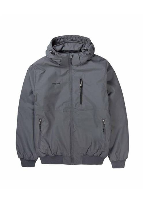 DETACHABLE  HOOD BOMBER JACKET 192.EM10.138 GREY