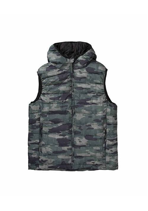 FAKE DOWN QUILTED VEST JACKET 192.EM10.120 CAMOUFLAGE