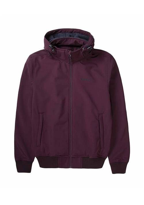 DETACHABLE HOOD BONDED BOMBER JACKET 192.EM11.08 WINE