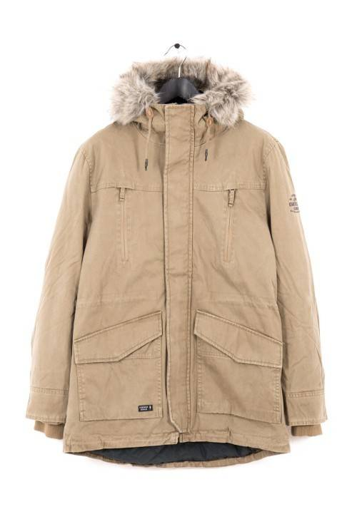 PADDED COTTON PARKA MR1653C BEIGE