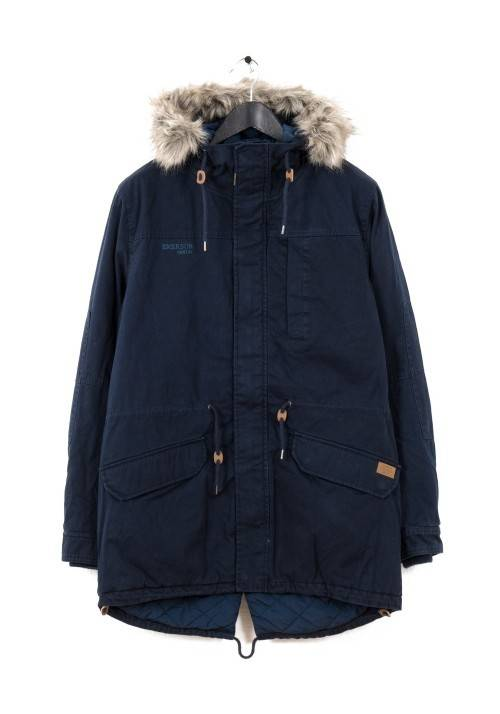 LONG FISHTAIL COTTON PARKA MR1694C NAVY