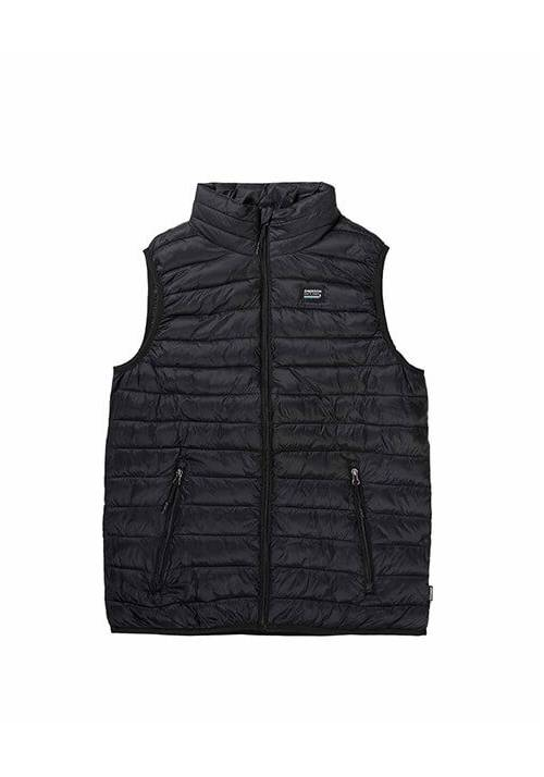FAKE DOWN QUILTED VEST JACKET 192.EM10.140 BLACK