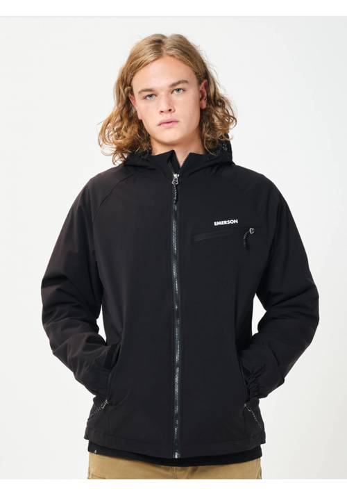 HOODED MID LENGTH JACKET 202.EM10.70 BLACK