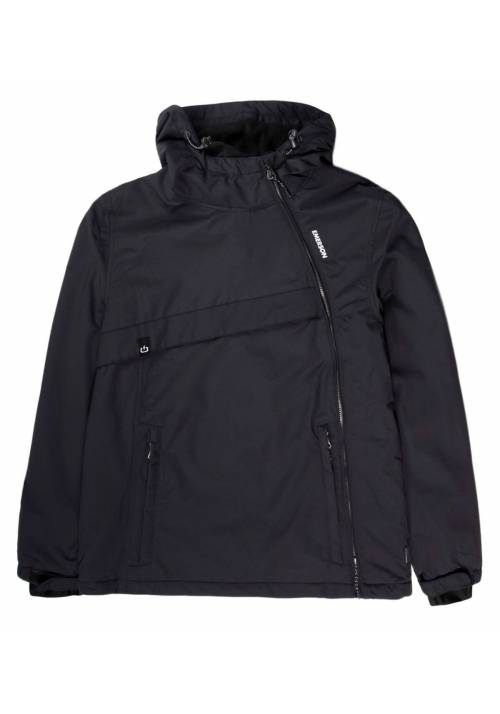 HOODED PULLOVER JACKET 192.EM10.62 BLACK