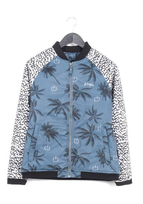 Padded Bomber Jacket 172.EW10.36 BLUE/WHITE