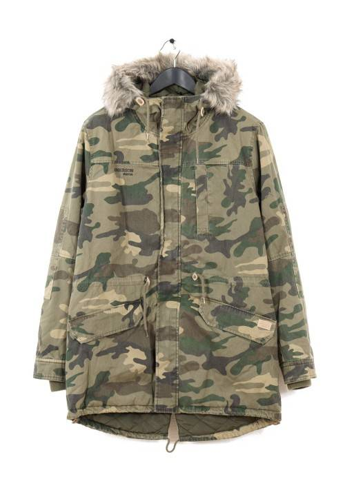 LONG FISHTAIL COTTON PARKA MR1694C CAMOUFLAGE