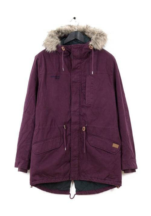 LONG FISHTAIL COTTON PARKA MR1694C WINE