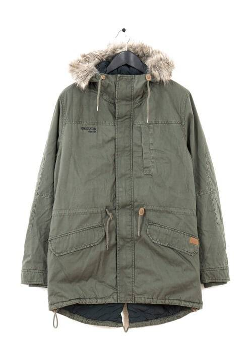 LONG FISHTAIL COTTON PARKA MR1694C OLIVE