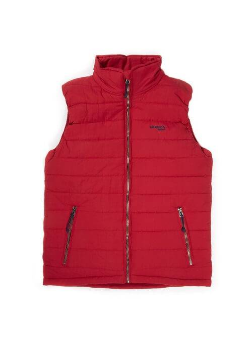 FAKE DOWN QUILTED VEST JACKET 191.EM10.22 RED