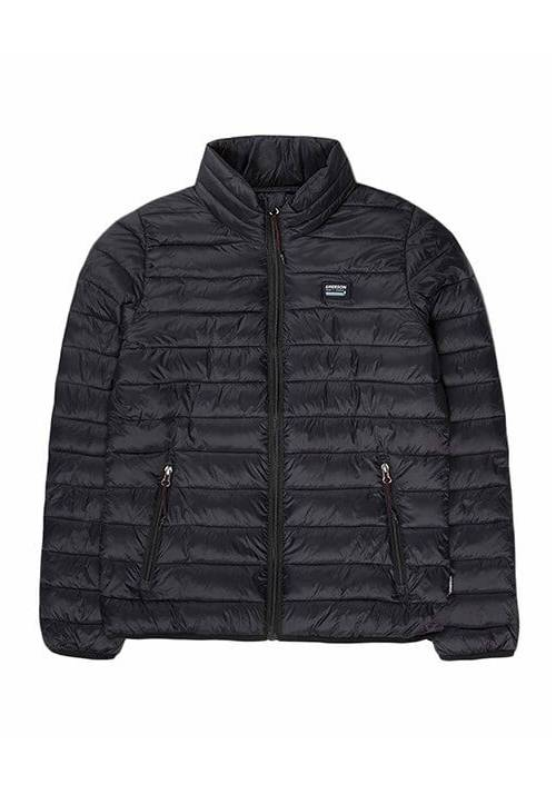 FAKE DOWN QUILTED LONG JACKET 192.EW10.148 BLACK