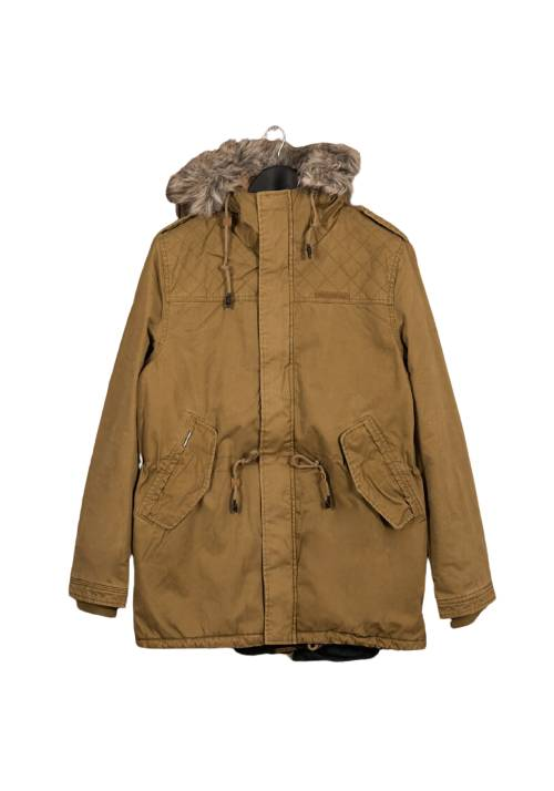 Cotton Faux-Fur Lining Parka MR1576 CAMEL