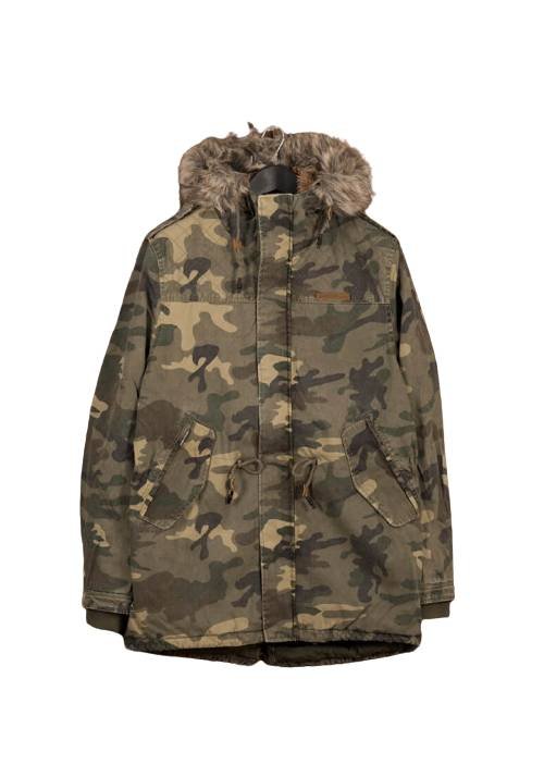 Cotton Faux-Fur Lining Parka MR1576 CAMOUFLAGE