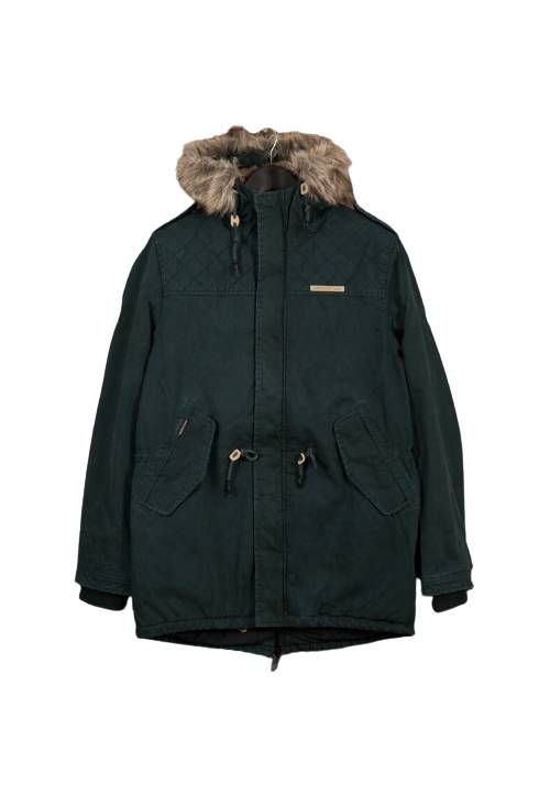 Cotton Faux-Fur Lining Parka MR1576 FOREST