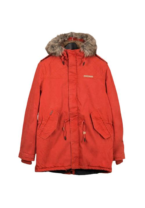 Cotton Faux-Fur Lining Parka MR1576 ORANGE