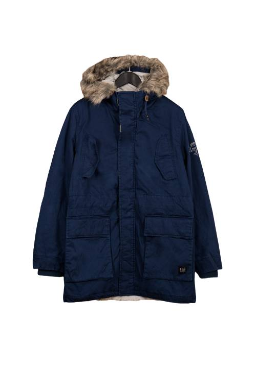 Cotton Faux-Fur Lining Parka MR1570 NAVY