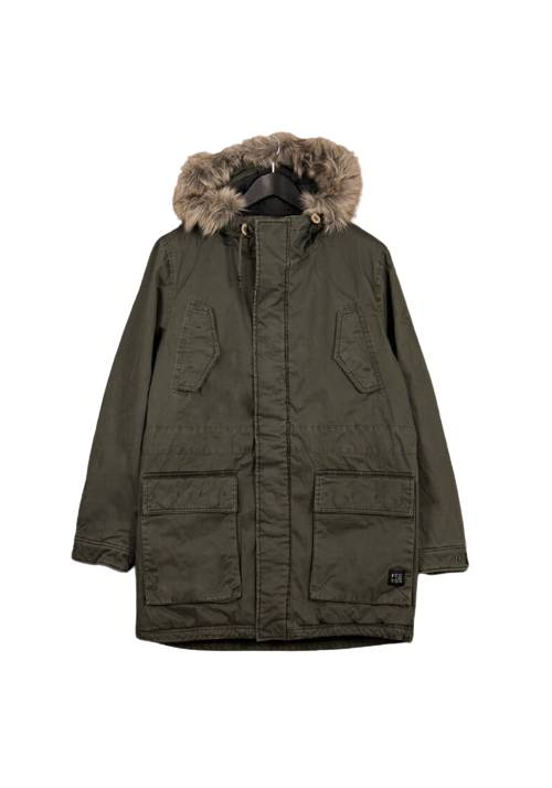 Cotton Faux-Fur Lining Parka MR1570 OLIVE