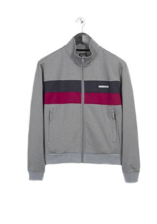 COLOUR BLOCK TRACK JACKET 182.EW23.70 GREY