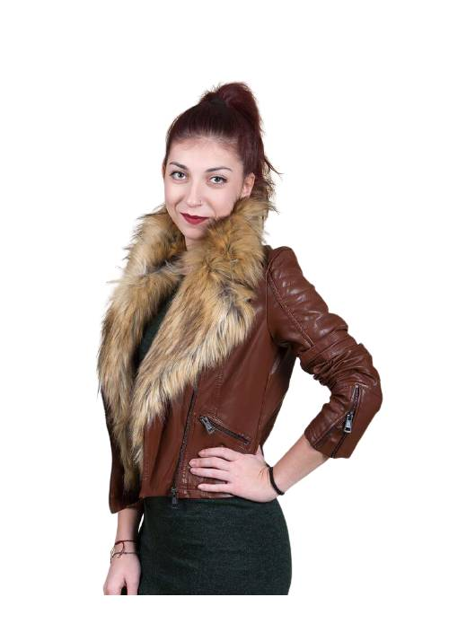 INOX LEATHER PU JACKET 16556