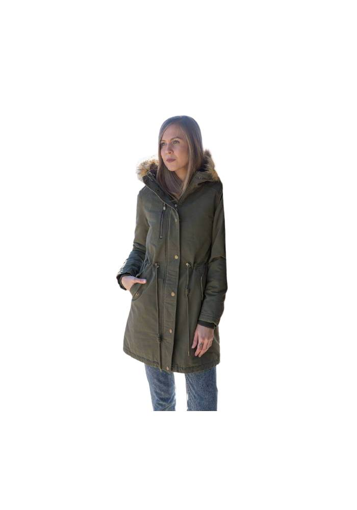 INOX COTTON PARKA 17620 OLIVE