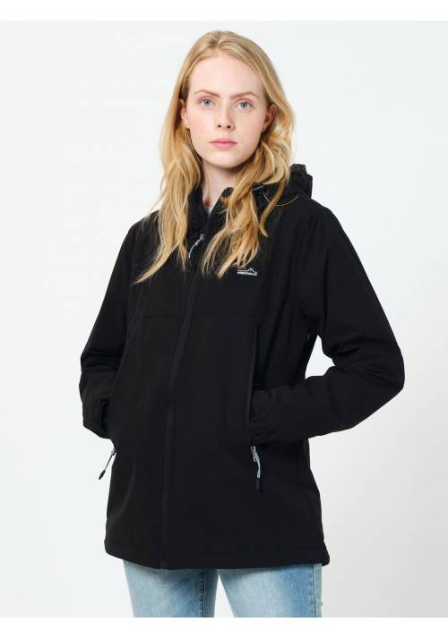 DETACHABLE HOODED BONDED  JACKET 202.EW11.31 BLACK