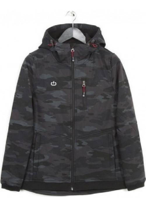 HOODED BONDED SEMI LONG JACKET 182.EW11.102 CAMOUFLAGE