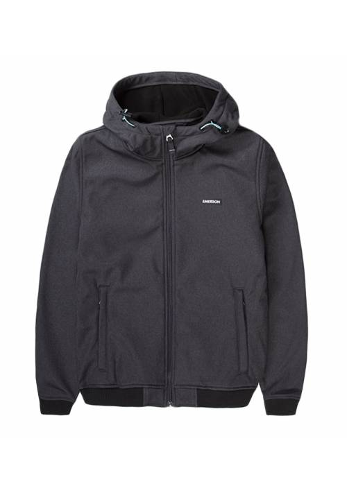 HOODED BONDED BOMBER JACKET 192.EW11.88 EBONY