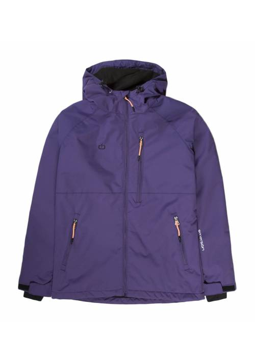 HOODED SEMI LONG JACKET 192.EW10.90 PURPLE