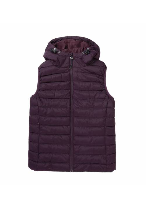 Vest Jacket with Hood 192.EW10.114 WINE