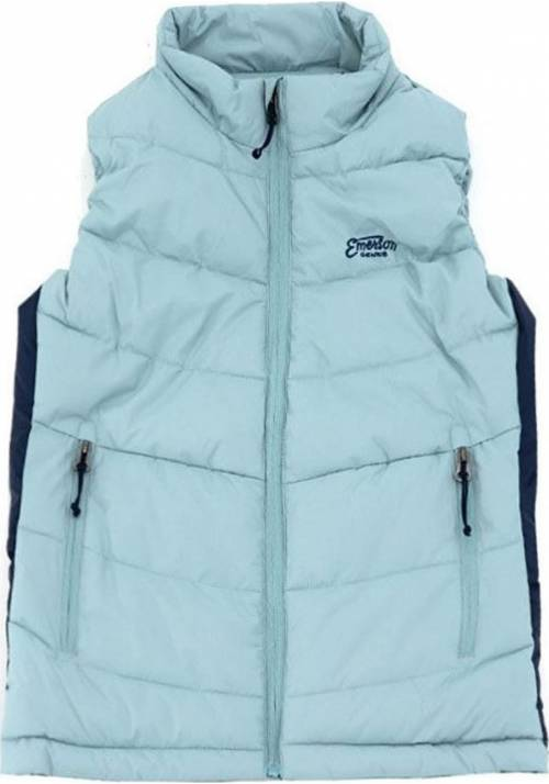 Vest Jacket with Hood 182.EW10.122 TURQOISE