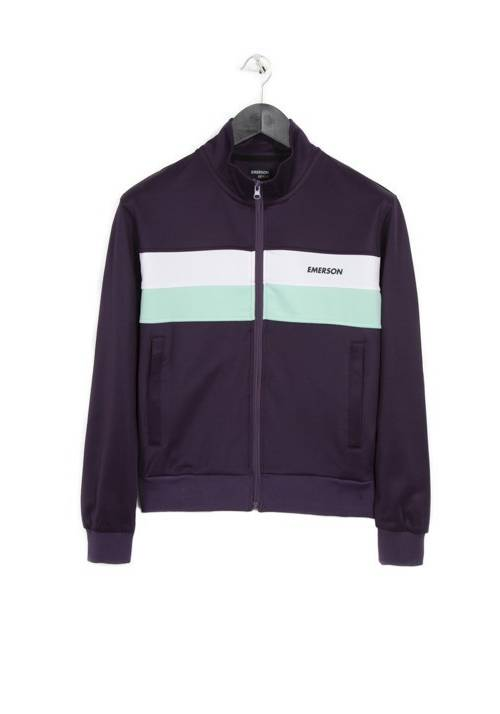 COLOUR BLOCK TRACK JACKET 182.EW23.70 PURPLE